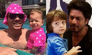 Shah Rukh Khan's son AbRam and David Warner's daughter Ivy ...
