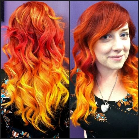 hair colour styles pravana orange ombre search hair styles 4563