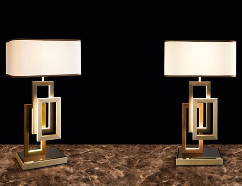 Lusso Edge Modern Italian Table Lamp In White Cotton