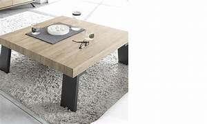 Table Chene Clair : table basse carr e contemporaine couleur bois baltimore ~ Teatrodelosmanantiales.com Idées de Décoration