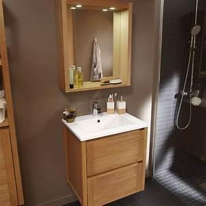 Meuble Vasque Bois Salle De Bain : trendy meuble salle de bain leroy merlin bois with armoire ~ Teatrodelosmanantiales.com Idées de Décoration