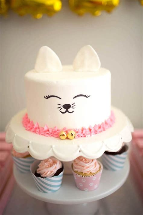 Cat happy birthday cake topper decor cat birthday theme picks for pet party decorations supplies. 1097 best Cat Cakes images on Pinterest | Biscuit, Cat cakes and Descendants cake