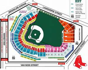 Fenway Park Seating Map Fenway Seat Map United States