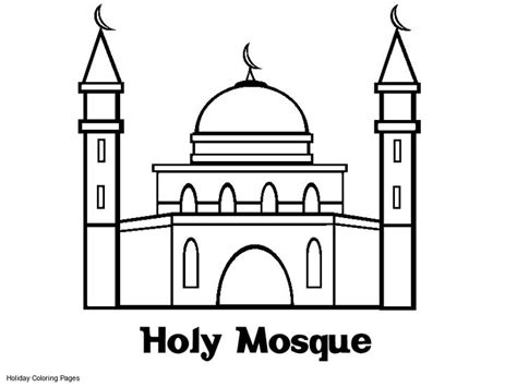 Coloring Mosque by Coloring Pages Printable Mosque Coloring Sheets Mosque