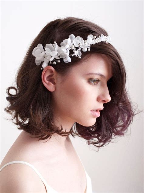 bridal silk flower blossom halo floral crown ready