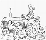 Tractor Coloring Printable Colouring Colorear Dibujos Siembra Campo Ford Hoe Labrar Hombre Template sketch template