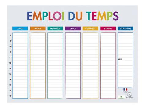 bureau de la vallee exacompta multicolore emploi du temps calendriers