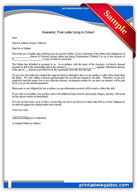 printable guarantor final letter   collect