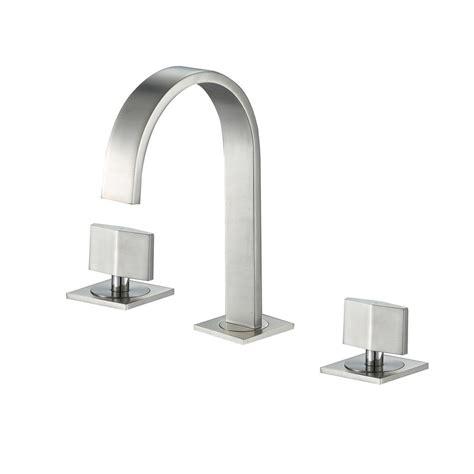 Contemporary Sink Faucets by Luxier Widespread 2 Handle Contemporary Bathroom Vanity