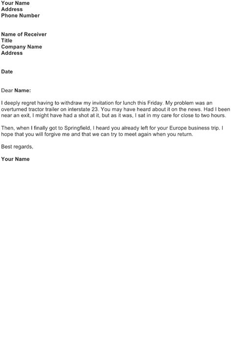 Cancellation Letter Sample - Download FREE Business Letter