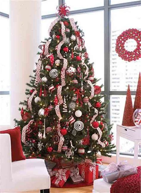 red white christmas tree pinchristmas com