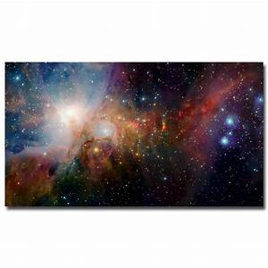 Galaxy Space Stars Nebula Landscape Silk Fabric Poster ...