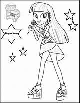 Coloring Singer Pony Equestria Sheet Pique Vocalist Careers Interest Child sketch template