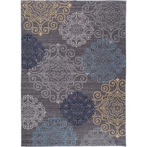 floral area rugs 5x8 modern floral swirl design non slip non skid gray area