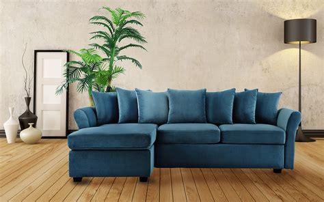 velvet chaise settee classic velvet sectional sofa large l shape with