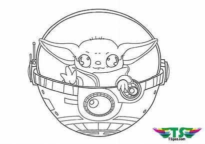 Yoda Coloring Wars Star Pages Tsgos Mandalorian
