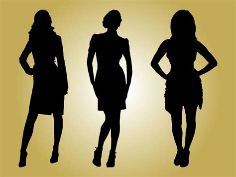 Fashion Model Silhouette Clip Art
