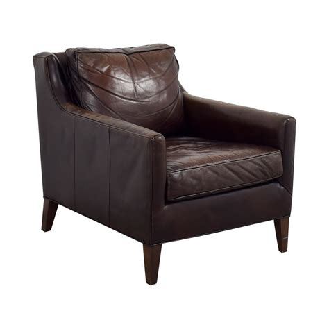Used Leather Armchair 62 pottery barn pottery barn brown leather armchair