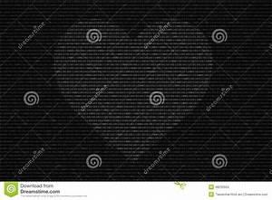 Binary Code Black And White Background Stock Illustration ...