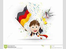 Germany Soccer Fan Flag Cartoon Stock Vector