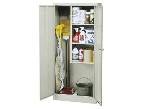 cleaning supplies storage cabinet janitorial supply closet 30 quot wx15 quot dx66 quot h metal storage