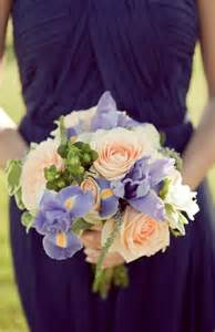 Lavender and Peach Roses Bouquet