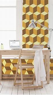 Yellow 3D Cubes - Walplus - Touch of Modern