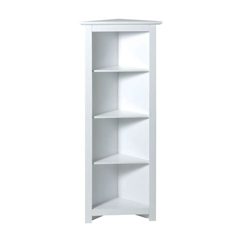 Narrow Wall Shelving Unit by Corner Shelf Unit 4 Tier White Shelving Units