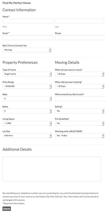 new gravity forms real estate templates agent evolution