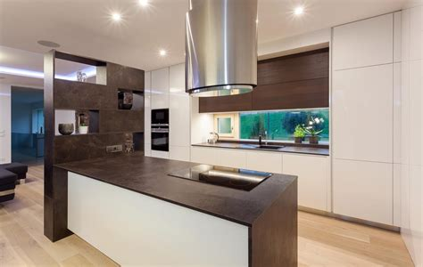 modern cabinets kitchen modern kitchen design with two toned cabinets from hans 4189