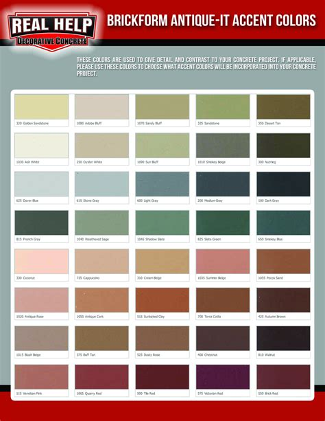 accent colors concrete accent color options real help concrete company