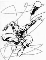 Daredevil Coloring Coloriage Superheroes Dessin Kb Imprimer sketch template