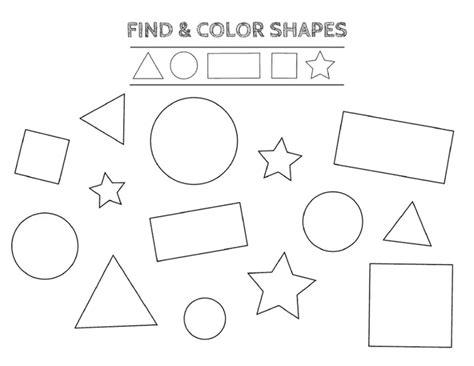 color  shapes worksheet    images shapes