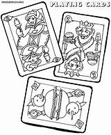 Coloring Cards Playing Poker Colorings Jawar Playingcards sketch template