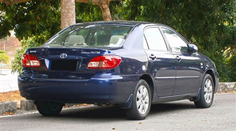Which used 2005 toyota corollas are available in my area? File:2005 Toyota Corolla Altis 1.6E in Cyberjaya, Malaysia ...