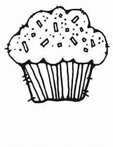 Cupcake Black And White Clipart - Clipart Suggest