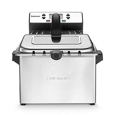 cuisinart  qt deep fryer  silver deep fryer