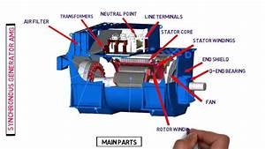 Main Parts Of Synchronous Generator Amg  Alternator