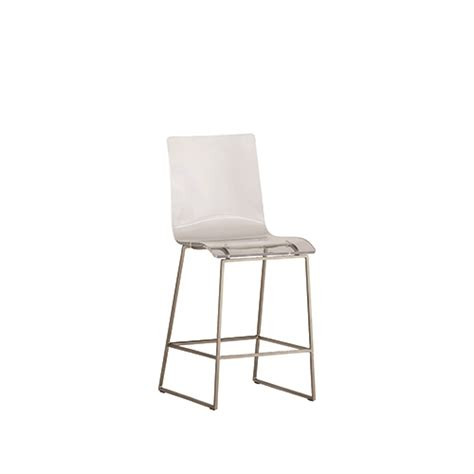 backless counter stool gabby home king antique silver and clear acrylic counter 1418