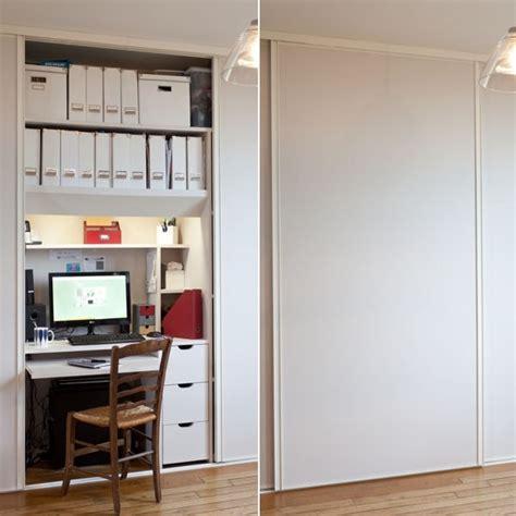 am駭agement bureau petit espace transformer un placard en bureau