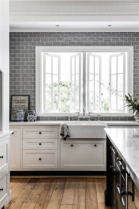 grey subway tile kitchen 35 ways to use subway tiles in the kitchen digsdigs