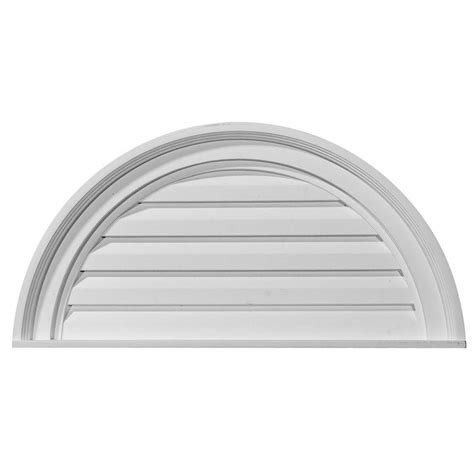 Decorative Gable Vents Home Depot by Ekena Millwork 2 In X 24 In X 12 In Decorative Half