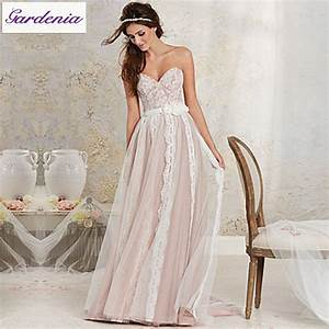 hot free shipping light pink beach bridal gown wedding With pink beach wedding dresses