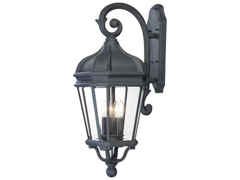 minka lavery harrison black four light outdoor wall light