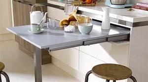 3 solutions pour installer une table dans une petite cuisine With table pour petite cuisine