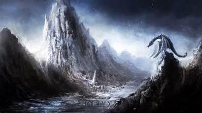 Skyrim Dragon Fantasy Elder Scrolls Wallpapers Games