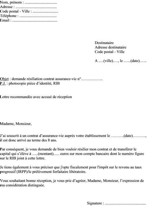 lettre de r 233 siliation informations d 233 marches et mod 232 les