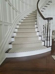 New York Patterned Carpet For Stairs Staircase Traditional