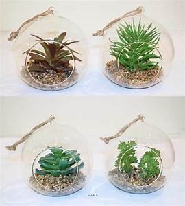 Plante Grasse Artificielle : plante grasse artificielle succulente cactee en bulle de ~ Teatrodelosmanantiales.com Idées de Décoration