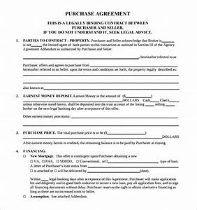 sample real estate purchase agreement template 13 free With property documents format